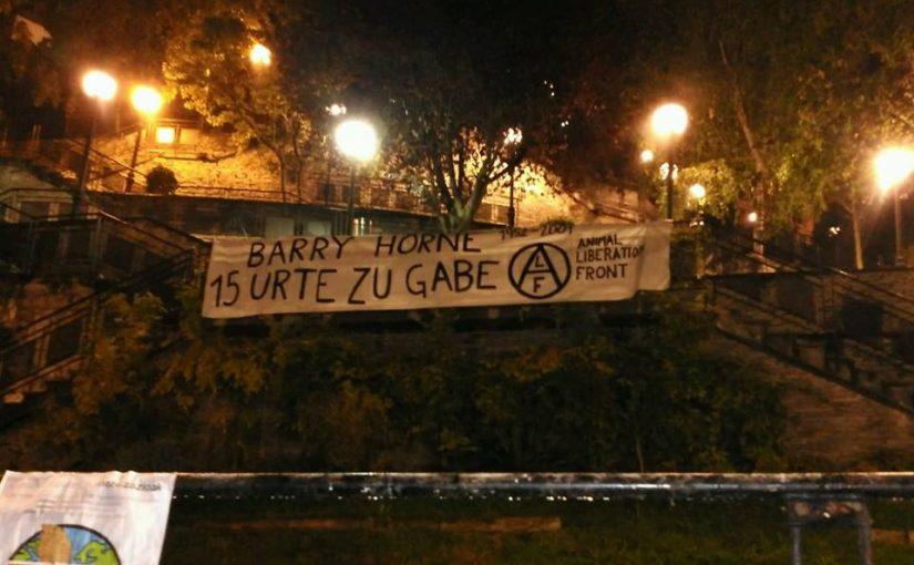 Bilbao recuerda el 15 aniversario de la muerte de Barry Horne.