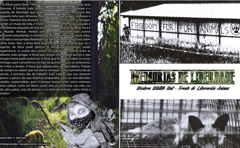 """Editado en galego """"Memorias de Libertad"""" de la Western Wildlife Unit del Frente de Liberación Animal"""
