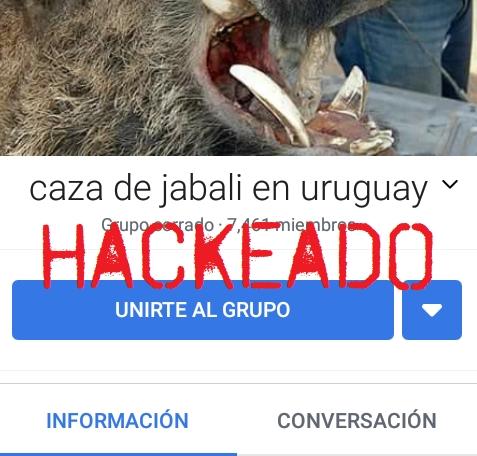 Hackeado el grupo de cacería en Uruguay