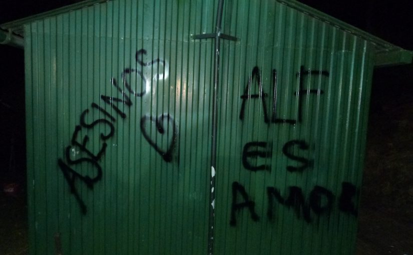 El Frente de Liberación Animal sabotea instalaciones de caza en Navarra en memoria de Mike Hill.